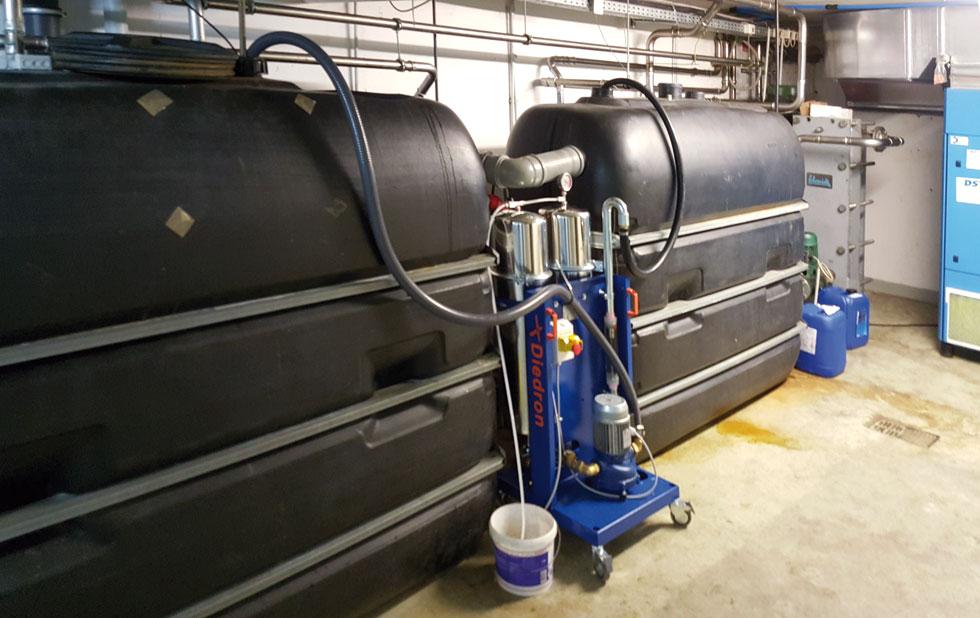 Diedron F4, Filtration in der Kunststofftechnik, Filtration Kühlwasser im Nebenstrom