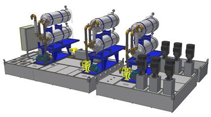 Diedron Filtertechnik | geplante Filteranlage zur Feinstfiltration von Bearbeitungsöl im Werkzeugschleifen