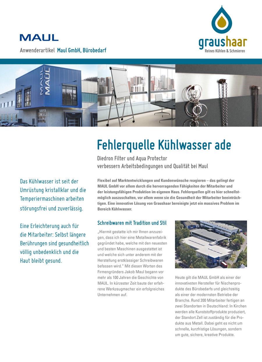 Graushaar GmbH | Diedron | Anwenderbericht Filtration Kühlwasser