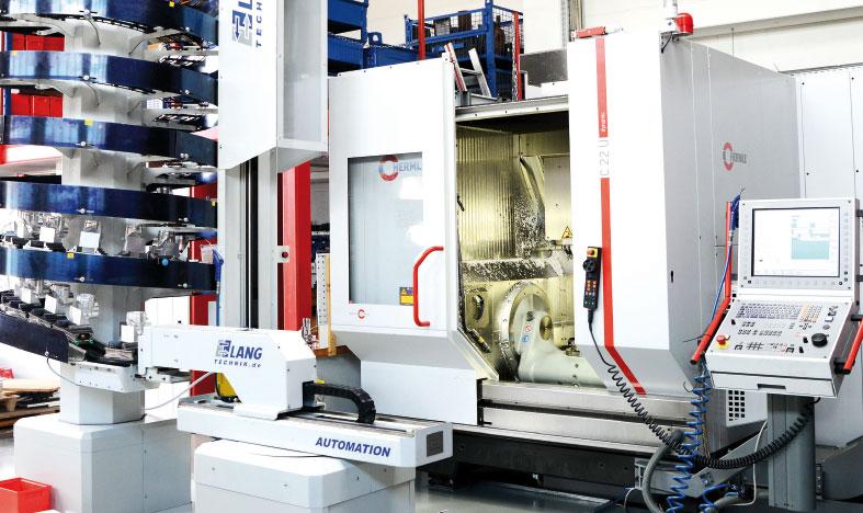 Hermle Bearbeitungszentrum befüllt mit Master Fluid Solutions TRIM Microsol 690 XT